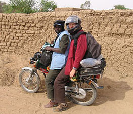 Andrew Dillon and Ousmane Bocoum are heading out to a survey village